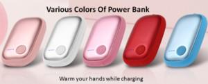 DIY Großhandel 4000mAh Hand Warm Power Bank für Handy, Telefon Zubehör mit Handwärmer Power Bank für Geschenk