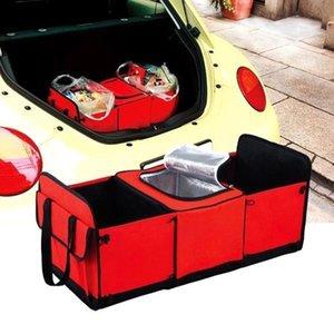 Yol Yolculuk Araba Boot Organizatör Handy Katlama Trunk Organizatör Outing Saklama Poşetleri araba stil Taşınabilir arka koltukta Cooler Seti Sepeti