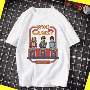 Nueva quién le importa F? Steven Rhode camiseta del logotipo de la demostración del juego divertido fresco de la camiseta de los hombres de calidad alta Tees