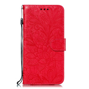 Para lg g8 phino lg v40 lg stylo5 4 novo cartão da flor do laço shell do telefone pu leather case flip multi-função coldre de telefone anti-queda