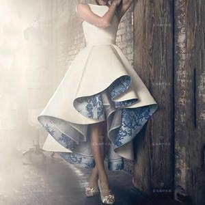 Высокий Низкий Кружева Внутри Плиссированные Рукавов Женщины Вечернее Платье Вечерние Платья На Заказ Шикарный Дизайн Женское Платье Знаменитости Партии