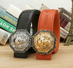 Горячие продажи новый 2 цвета высокое качество Медуза дизайнер моды пряжки пояса мужская женская пояс ceinture