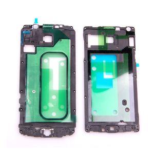 Per Samsung Galaxy A3 A5 A7 A8 A9 A3 2016 A7 2016 A5 2016 Faceplate LCD supporto anteriore Housing Pezzi di ricambio Bezel