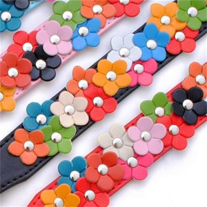PU Leather Pet Collar Cute Collar for Small Dogs Girl Flower Studded Dog Neck Accessory Adjustable Puppy Necklace
