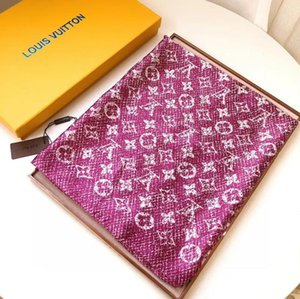 2020 Top design brand scarf madam soft super long luxurious scarf shawl spring fashionable Printed silk scarves L07