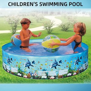 No Inflation 1 Set Blue Free Inflatable Children'S Ball Pool Child Beach Pool Swimming Antibacterial Bathroom Accessories