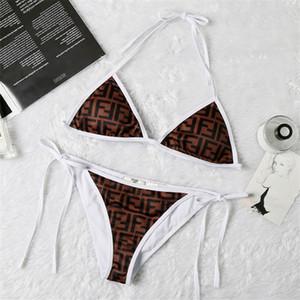 SS20 новое поступление высокое качество дизайнер FF купальник лето пляж бикини купальники для женщин сексуальный размер S-XL 8805
