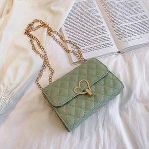 High-Grade Bag Western Style Women's Bag 2020 New Chic Rhombus Chain Casual All-match Messenger Lovely