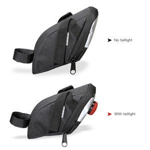 Bisiklet Koltuk Mesaj Çanta Bisiklet Bisiklet Koltuk Taillight Eyer Arka Kuyruk Paketi Bisiklet Saddle Bag ile Paketi MTB Yol Bisikleti Çantası