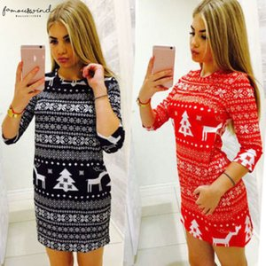 New Arrival Women Winter Half Slim Vintage Knitted Jumper Christmas Sweater Pullover Knitwear Long Twill Tops Dress Womens Ladies Warm