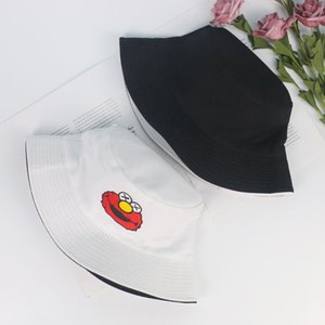 2020 Sesame Street pattern double-sided fisherman hat casual all-match basin hat men's and women's personalized sun hat