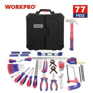WORKPRO 77PC Conjunto de herramientas para el hogar doméstico reformas kits de herramientas Destornilladores Alicates tijera Cuchillo Martillo 2019 Nuevo