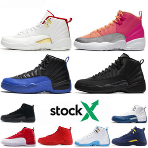 air jordan retro 12s Top Basketball Shoes 12 12s Uomini scarpe Doernbecher FIBA ​​Reverse Taxi Gioco Reale Francese Blu Mens Trainers Outdoor Sports Sneakers 7-13