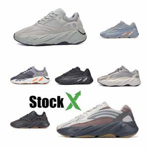 2020 Azael Alvah 700 V3 Mens Designer Shoes Kanye West incandescenza bianca In Dark modo di alta qualità del progettista donne degli uomini addestratori correnti Wit # QA505