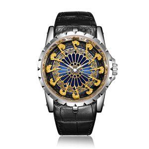 ONOLA 2021 Mode Lässig Mann Watch 2019 Neues Echtes Leder Wasserdichte Bunte Kleid Armbanduhr Klassische Designer Luxusuhr Mann