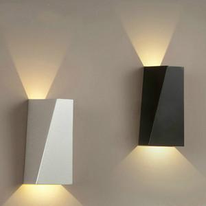 Modern Fuaye Led Duvar Lambası Yatak Odası Aplik Apliques Pared Yukarı Aşağı Koridor Işık Lambası Sconce Işıklar Banyo Led