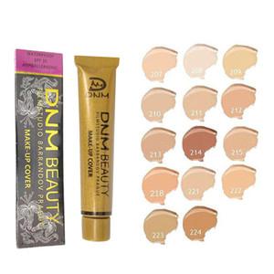 Новый бренд 14 цветов жидкий тональный крем золото труба естественная красота лицо макияж покрытие маскирующее 30g