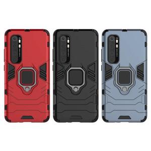 Gracious Ebullient Shield Loop Luxury Sticker Plastic TPU Cover Case For Xiaomi Mi Note 10 Lite