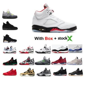 5 Feu rouge d'argent 5S Tongue 2020 11 11S Space Jam Low Blanc Bred chaussures Chat Noir 4s Bleu Concord Bred de basket-ball d'espadrille