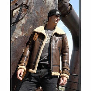 Leather Jacket Men 2020 Real Fur Coat Natural Sheep Shearing Winter Coat for Mens Clothing Chaqueta Cuero Hombre 8156 YY750