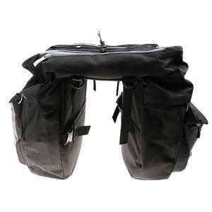 43L Large Bike Rear Pack Double Pannier Cargo Saddle Bags Touring