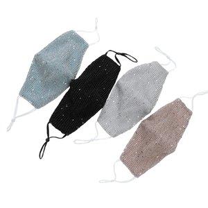 Блестки маски для лица пыленепроницаемой маски шику противотуманных мягких дышащих наружных защитных масок для взрослых ушной FFA3987