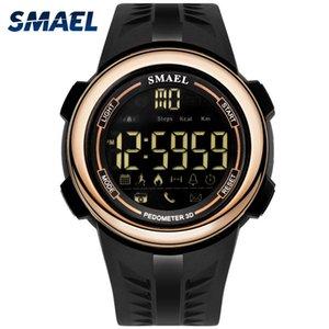 Reloj Bluetooth SMAEL para Smart Display LED de los hombres reloj electrónico masculino de silicona llevó el reloj de pulsera digital resistente al agua Man1703