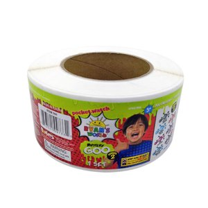 Rouleau d'emballage Enfants Montre Vinyle Adhésif Autocollant Étiquette Couleur Impression Couleur Etiquettes Papier Logo Electronic Logo Promotion Autocollants