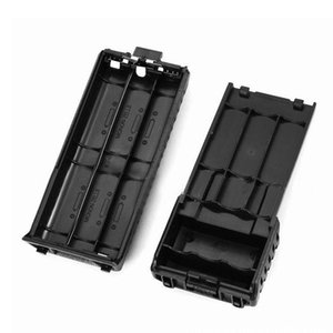 200pcs 3800mAh 6xAA Battery Case Shell Black For Portable Radio Two Way Transceiver Walkie Talkie Baofeng UV-5R