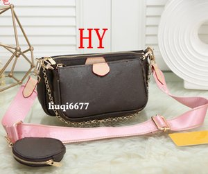 favorite pochette accessories designer luxury handbag purse leather L flower shoulder crossbody messenger bag purses 3 pcs combination bags
