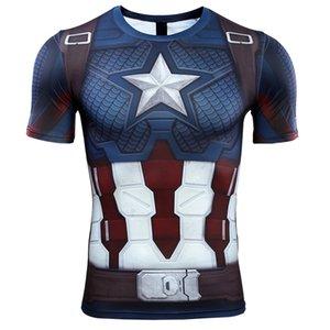 Captain American 3d Gedruckt T Shirts Männer Avengers 4 Endspiel Quantum War Compression Shirt Iron Man Cosplay Kostüm Tops Für Männer