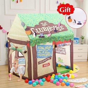 Quintal Play Tent Para Crianças Castle House Cubby Dobrável Barraca de Brinquedo Do Bebê Playhouse Ao Ar Livre Interior Toy Kids Tent para o Presente de Natal SH190907