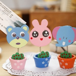 Cute Cartoon Animal Party Table Number Clip Photo Card Holder Note Memo Table Place Card Holder Cumpleaños Wedding Party Decoration
