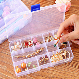 Multi-grid Transparent Storage Box Jewelry Box finishing Box free Assembled Medicine Box 10 15