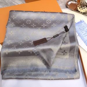 Los diseñadores de la bufanda Tops para mujer de lujo del hombre Atumn invierno seda del mantón bufandas Marca Tamaño acerca 180x70cm 4 Colores