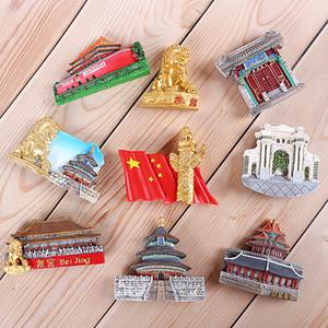 Litchi vita Pechino Palazzo Fridge Magnet Cina Paesaggio Frigorifero Sticker magnetico Viaggi souvenir decorazione domestica