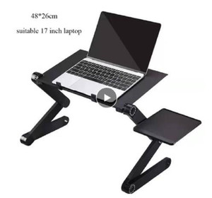 48*26cm Extended Laptop Table Stand Plus with Adjustable Height Folding Ergonom Laptop Desk for Bed Sofa Metal Computer Desk