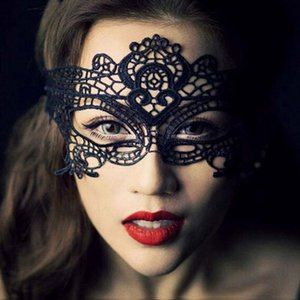 21 Styles Sexy Lady Lace Fashion Masque creux Eye Mask Black Party mascarade Fancy Masques Halloween Party Mardi vénitien Costume