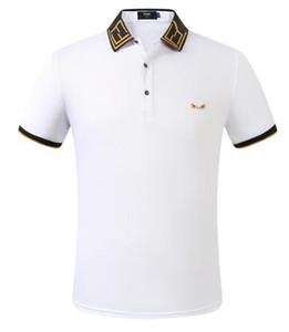 FF New Mens Polo Concepteurs été Hauts broderie Hommes Polos Mode Shirt Hommes Femmes High Street Casual Top T-shirts Taille M-3XL A01