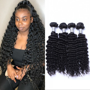 Mongolian Hair Weave Bundles Curly Human Hair Bundles 4 Pieces Deep Wave Virgin Hair Extension For Women