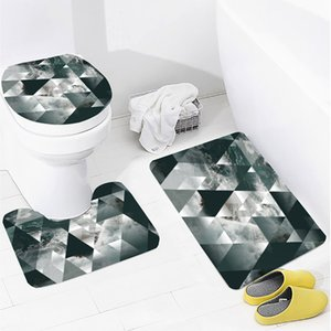 Thickened Toilet Three-Piece Toilet Absorbent Mat Non-Slip Bathroom Non-Slip Mat Bathroom Printing Support Dropshipping