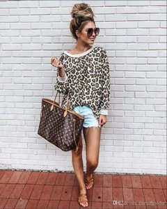 Colorful Womens Tops Fashion Autumn Ladies Hoodies Sexy Leopard Long Sleeve O Neck Womens Sweatshirts Loose