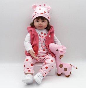 New Hot 48cm boneca reborn silicone reborn baby dolls com corpo de silicone menina baby dolls kids birthday Christmas gift