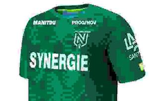 Calidad tailandesa versión 19 de la camisa 20 de la Ligue FC Nantes camisetas de fútbol de fútbol 19/20 jerseys ausentes del fútbol verdes FC Nantes hombres corrientes de los jerseys