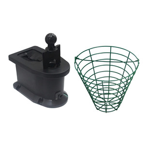 Golf Cart sfera Cleaner Car Holder Pre-Forato Club rondella della sfera di metallo Secchio