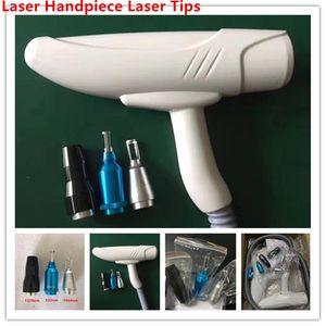 Q interruptor Handle Nd Yag Laser Handpiece Laser para Tattoo Pigment Acne Remoção de manchas com 532nm 1064nm 1320nm Preto Dicas Laser boneca