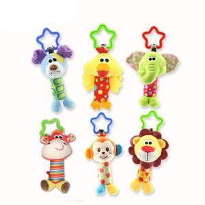 Bebê Handbell Recém-nascidos Meninos Meninas Infantil Macio Bonito Boneca Animal Handbells Developmental Bebê Sinos Brinquedos