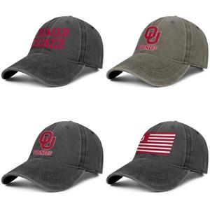 Oklahoma Flag Sooners Football Red Unisex cap denim baseball design personalizado seu próprio personalizado chapéus elegantes logotipo do futebol velha impressão