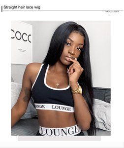 full lace human hair Human Hair Wigs Pre Plucked Transparent Straight Lace Front Wig 360 Lace Frontal Wig