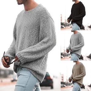 Camisolas cor sólida moda de luxo Maglione roupa interior ocasional pulôver manga comprida Outono malhas dos homens Designer
